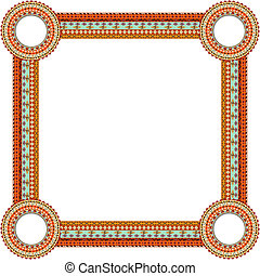 Original Abstract frame in Mexico tribal style. Vector illustrat