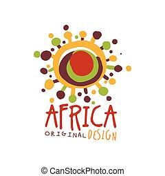 Original african abstract logo template