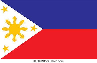 Philippines flag - original and simple Republic of The...
