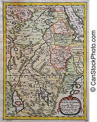Original antique east Africa map.