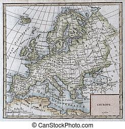 original antique Europe map