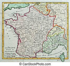 original antique France map