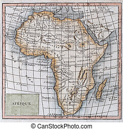 original antique map of Africa