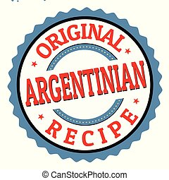 Original argentinian recipe sign or stamp