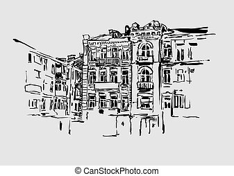 original artistic picture of Kiev historical building - ...