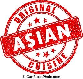 Original asian cuisine vector stamp