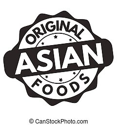 Original asian foods sign or stamp