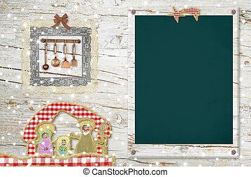 Original background card for Christmas menu - Original ...
