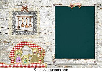 Original background card for Christmas menu - Original ...
