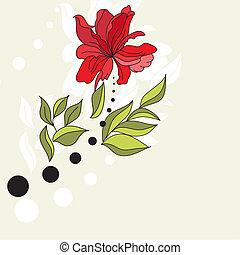 Original background with flower