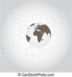 Original background with globe