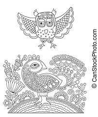 original black and white line drawing page of coloring book
