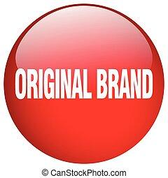 original brand red round gel isolated push button