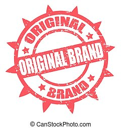 Original Brand-stamp - Grunge rubber stamp with text...