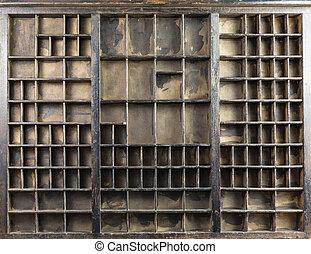 vintage type case - original brown vintage type case