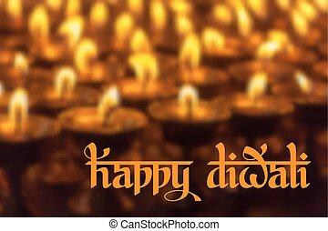 Happy Diwali - Original calligraphic inscription Happy...