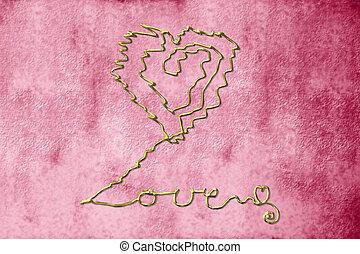 original card background in love