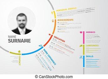 Original circular resume template