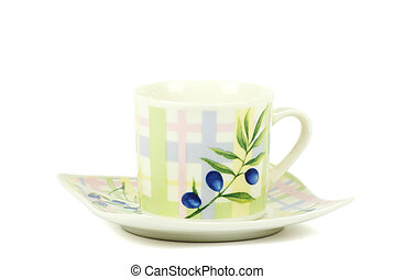 Original coffee cup on a white background