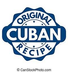 Original Cuban recipe  sign or stamp