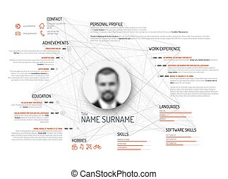 Original cv / resume template