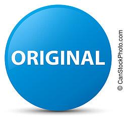 Original cyan blue round button