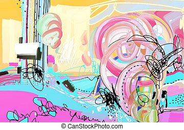 original digital abstract painting