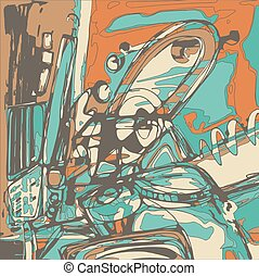original, digital, quadro, de, abstração, composição, tu, lata, nós