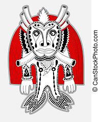 original doodle fantasy monster personage