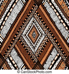 Seamless pattern with geometric elements. - Original drawing...