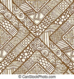 Seamless pattern with geometric elements.