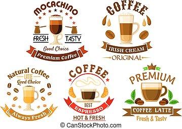 Original drinks for coffee shop design