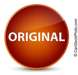 Original elegant brown round button