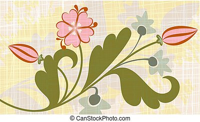 Original floral background.
