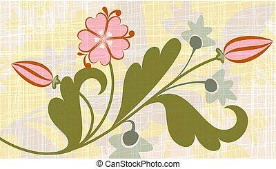 Original floral background.
