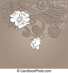 Original floral background