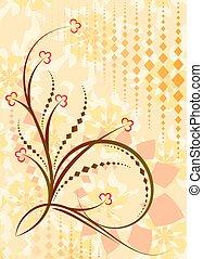 Original floral background