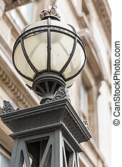 Original Gas Lamp in London, adapted to electric