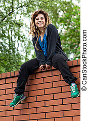 Original girl on the wall