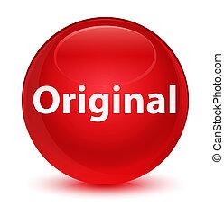 Original glassy red round button