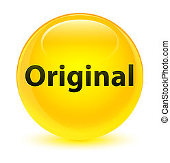 Original glassy yellow round button
