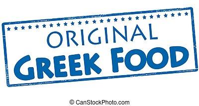 Original greek food - Stamp with text original Greek food...