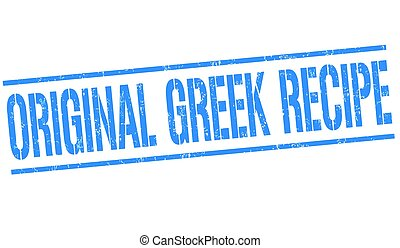 Original greek recipe sign or stamp