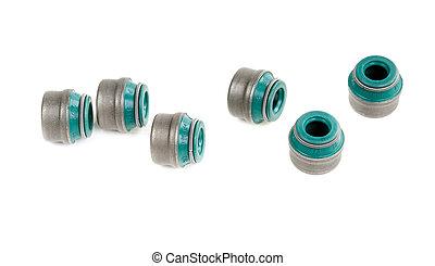 valve stem seals - original green valve stem seals isolated ...