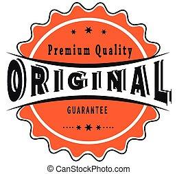 original guarantee stamp