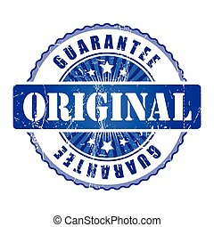 Original  Guarantee Stamp.