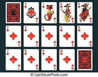 Halloween Playing Cards - Diamonds