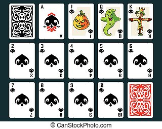 Halloween Playing Cards - Spades
