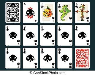 Halloween Playing Cards - Spades - Original Halloween...