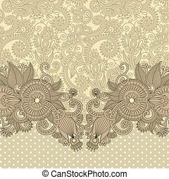 ornate card announcement - original hand draw floral ornate...